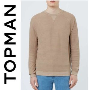 (NWOT) TOPMAN Tan Men's Sweater